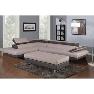 Piedra 124 Faux Leather Sofa  Chaise by Brayden Studio