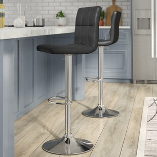 Orren Ellis Gemini Adjustable Height Swivel Bar Stool (Set of 2)
