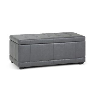 Simpli Home Westchester Upholstered Storage Bench