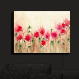 Purchase Field of Poppies' Print on Fabric By Red Barrel Studio