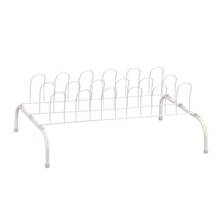 Bargain 1-Tier 9 Pair Shoe Rack By Household Essentials