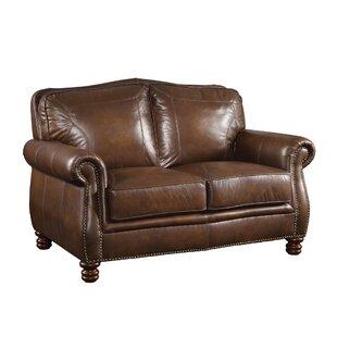Linglestown Leather Loveseat b..