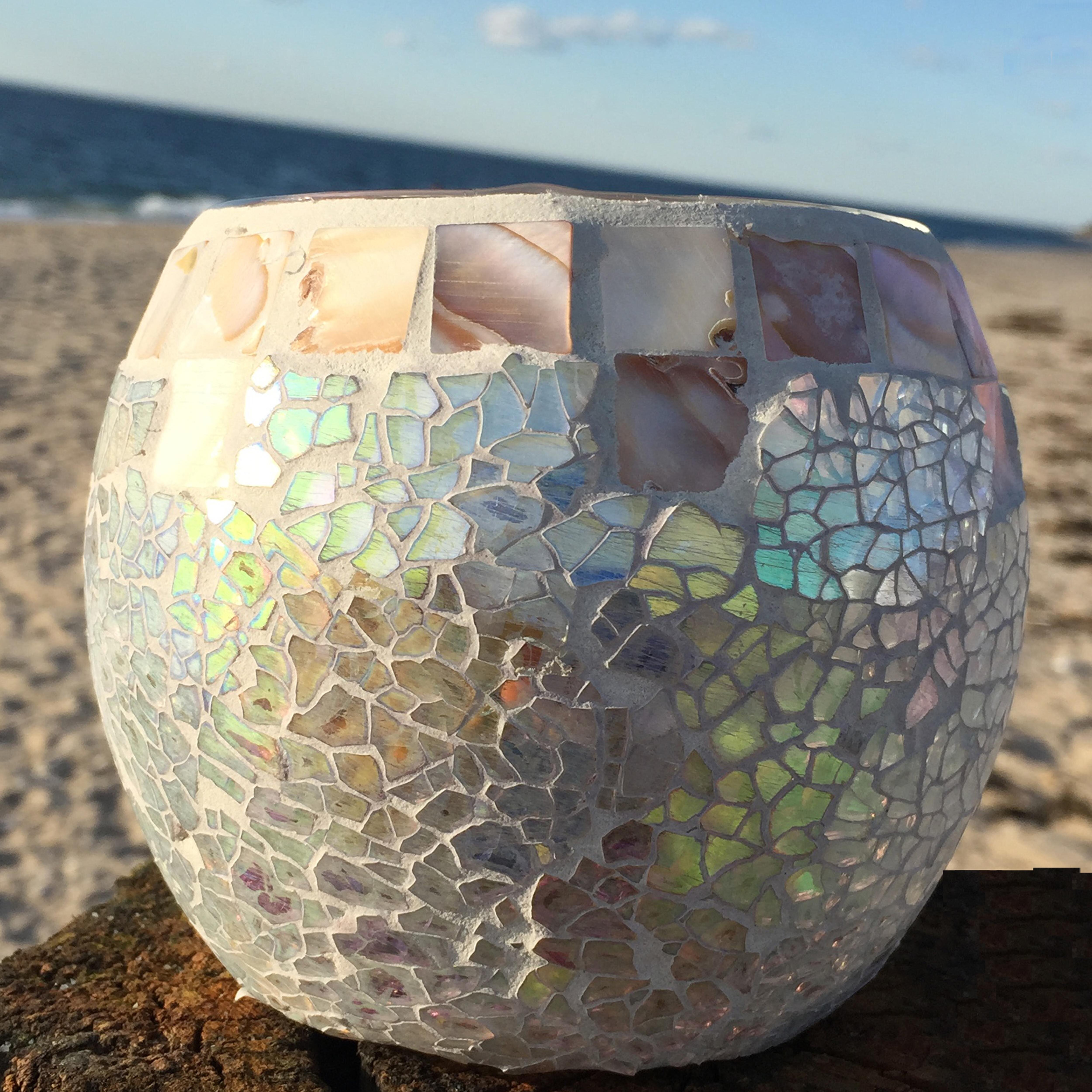 Mother Of Pearl Mosaic Nightstand Im Obsessed: Highland Dunes Mother Of Pearl Mosaic Ceramic And Glass