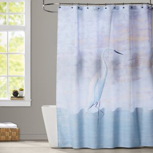 Rosecliff Heights Oakley Egret Animal Print Shower Curtain