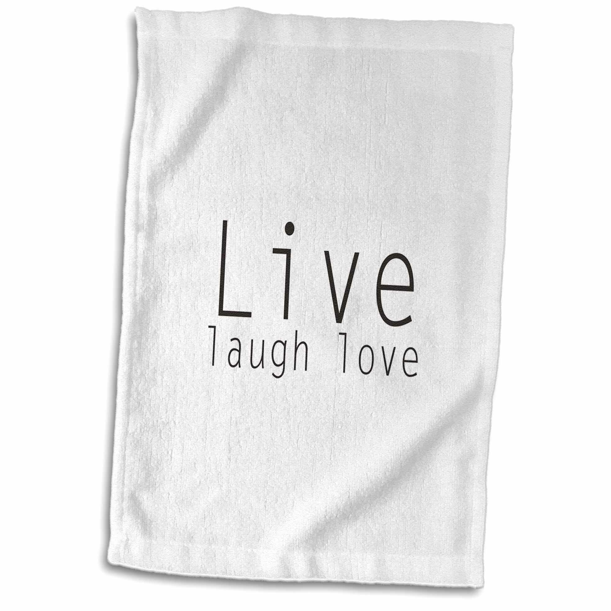 Symple Stuff Laivai Live Laugh Love Hand Towel Wayfair