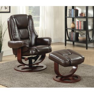 Archimbald Leaf Recliner with Ottoman