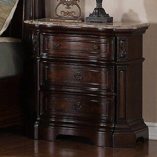 Hendricks 3 Drawer Nightstand by Astoria Grand