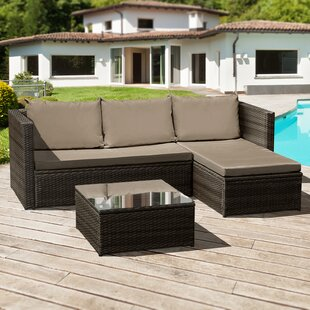 Deatrich 3 Seater Rattan Corner Sofa Set By Sol 72 Outdoor
