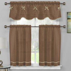 Isla 3 Piece Kitchen Curtain Set