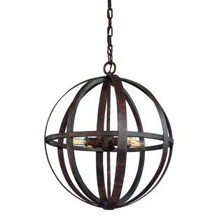 Petrina 4-Light Globe Pendant by 17 Stories