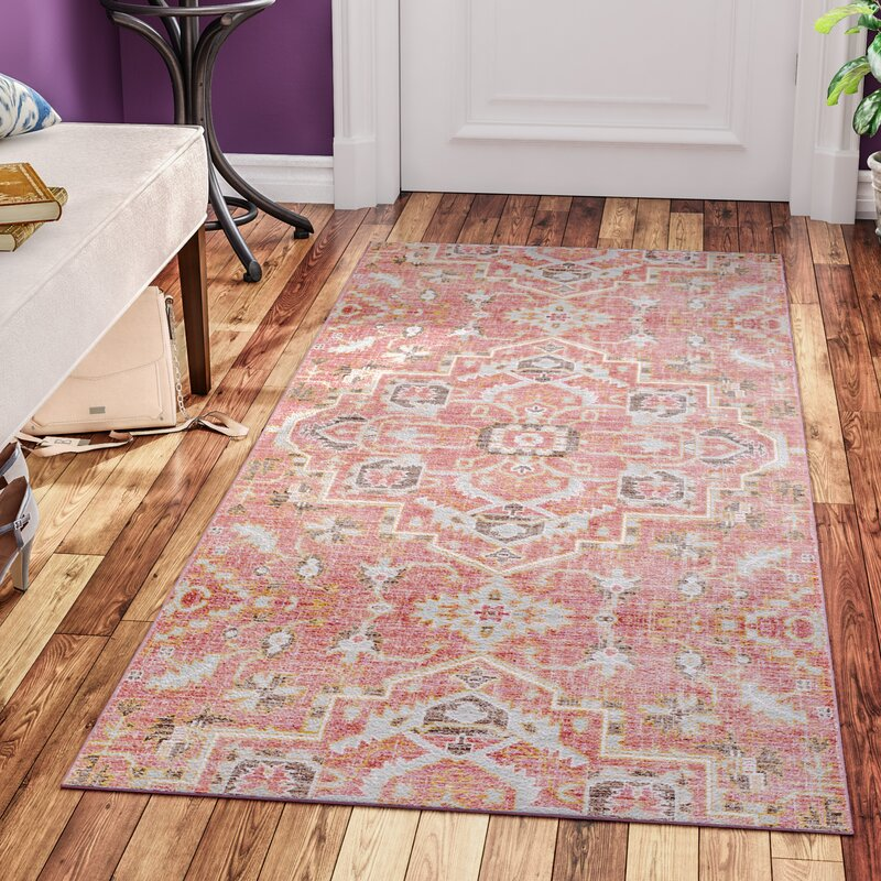 Fields Pink Area Rug