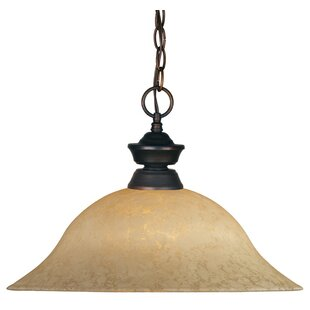 Fleur De Lis Living Biller 1-Light Cone Pendant