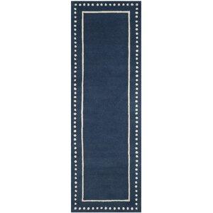 Amundson Hand-Tufted Navy Blue Indoor Area Rug