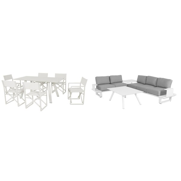Bevan 10 Piece Complete Patio Set With Cushions Allmodern