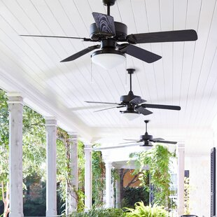 Best Reviews 52 Schiller 5-Blade Patio Ceiling Fan By Laurel Foundry Modern Farmhouse