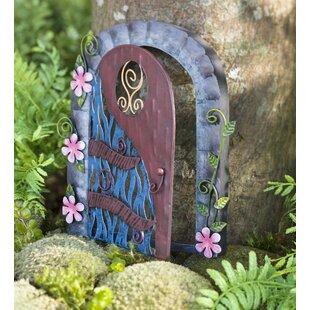 Miniature Flower Swirl Door Fairy Garden by Plow & Hearth