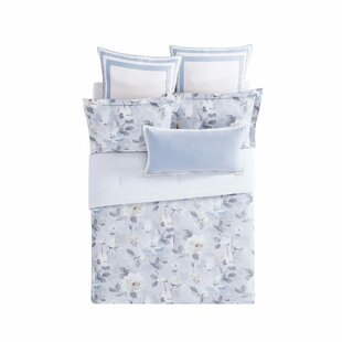Soft Floral Reversible Comforter Set