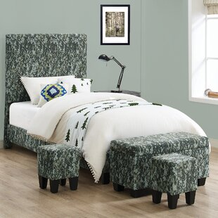 Gratton Twin Bed with Ottoman by Harriet Bee