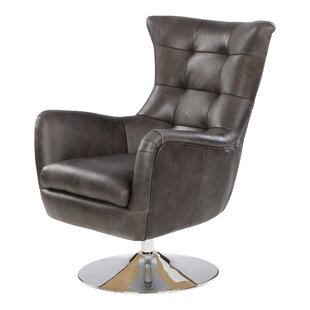 Havza Swivel Wingback Chair By Borough Wharf