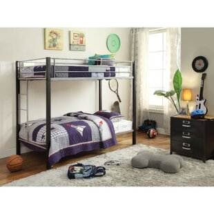 SunPrairie Metal Twin Over Twin Bunk Bed by Harriet Bee