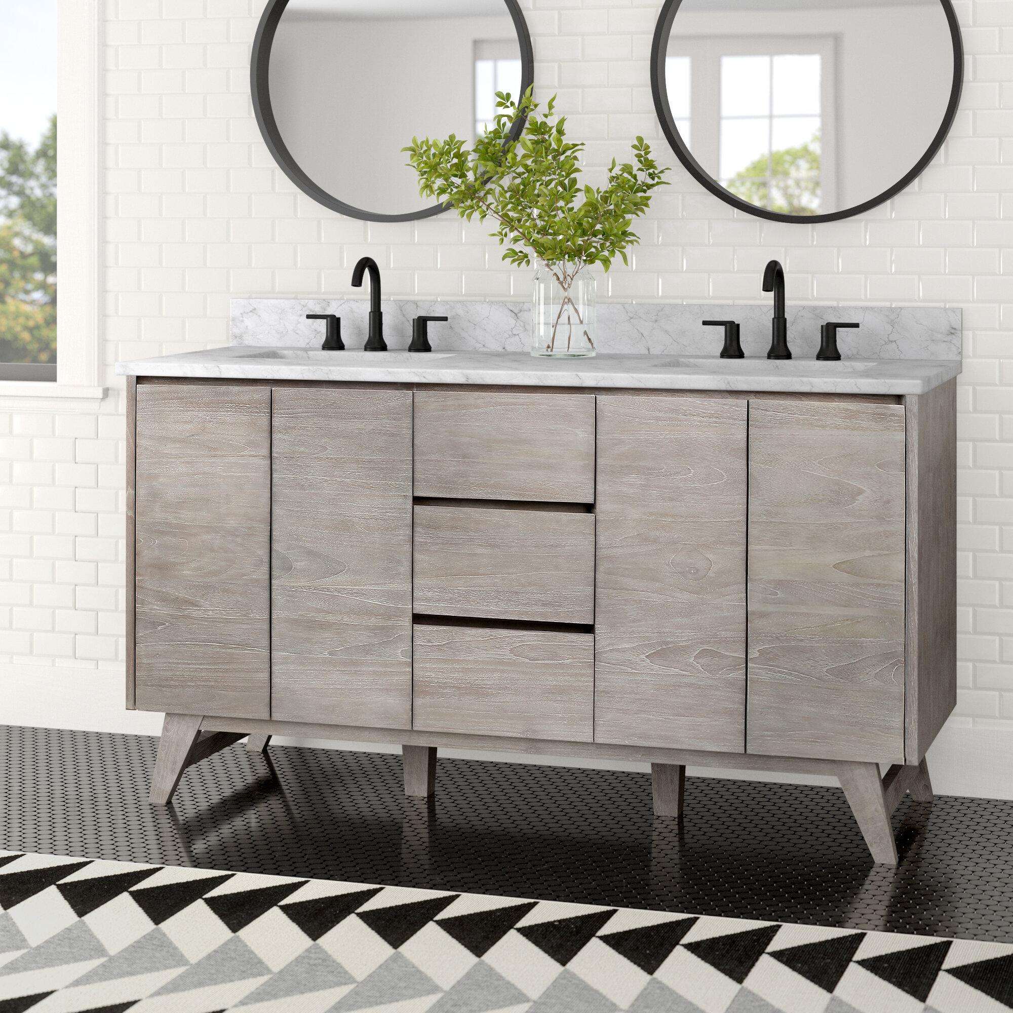 Jaylyn 61 Double Bathroom Vanity Reviews Allmodern