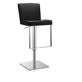 Orren Ellis Rodger Adjustable Height Swivel Bar Stool