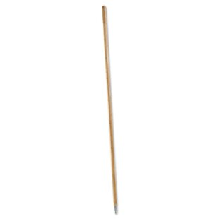 Metal Tip Threaded Hardwood Broom Handle