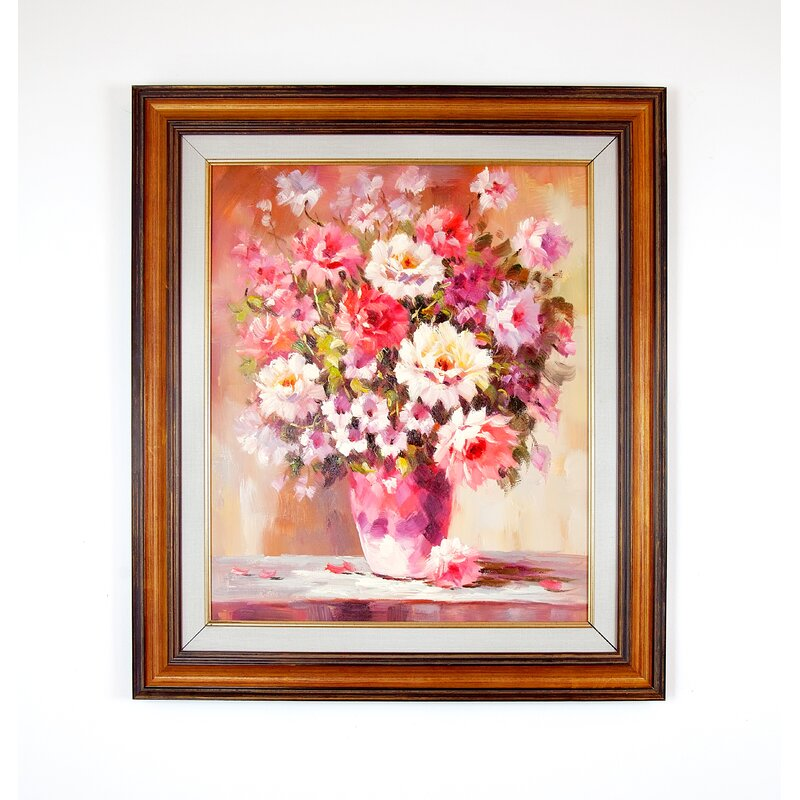The Silver Teak Spring Flowers In A Vase Framed Oil Painting Print