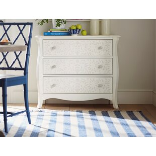 YoungHouseLove Stenciled 3 Drawer Dresser