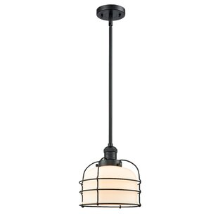 Hansford Cage 1-Light Bell Pendant by Breakwater Bay