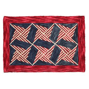 Chesa Hand Tufted Wool Red Area Rug