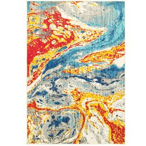 Rarick Yellow/Red/Blue Area Rug