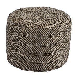 Vonda Chevron Pouf Ottoman by Laurel Foundry Modern Farmhouse