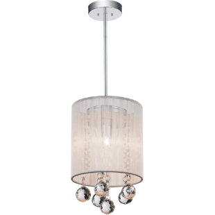 CWI Lighting 1-Light Drum Pendant