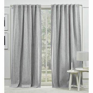 palisades blackout back tab solid color room darkening rod pocket single curtain panel