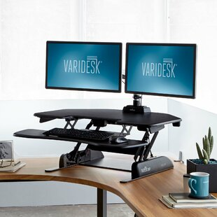 Cube Corner Height Adjustable Standing Desk Converter by VARIDESK Best #1