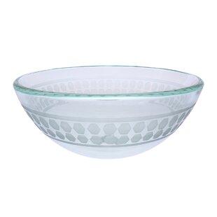 Novatto Imponeren Glass Circular Vessel Bathroom Sink