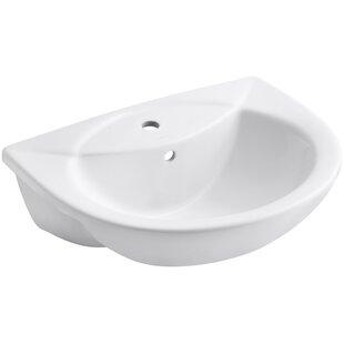 Kohler Odeon Ceramic U-Shaped Drop-In Bathroom Sink with Overflow