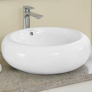 Swiss Madison Plaisir® Ceramic Circular Vessel Bathroom Sink with Overflow