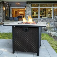 Deals on Landmann Oakley Steel Propane Fire Pit Table