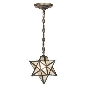 Moravian star hanging light wayfair moravian star 1 light mini pendant aloadofball Image collections