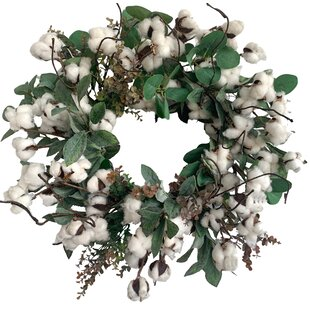 Cotton Wreaths You Ll Love In 2020 Wayfair