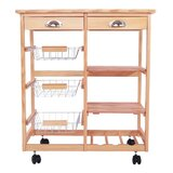 Rolling Utility Kitchen Cart by Prep & Savour