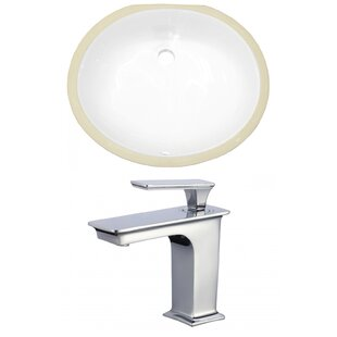 Read Reviews CUPC Ceramic Oval Undermount Bathroom Sink with Faucet and Overflow By American Imaginations