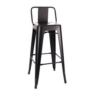 Pleasing Briele Steel Low Back 30 Bar Stool Set Of 4 Creativecarmelina Interior Chair Design Creativecarmelinacom