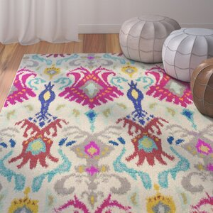 Terrell Ivory & Red Area Rug