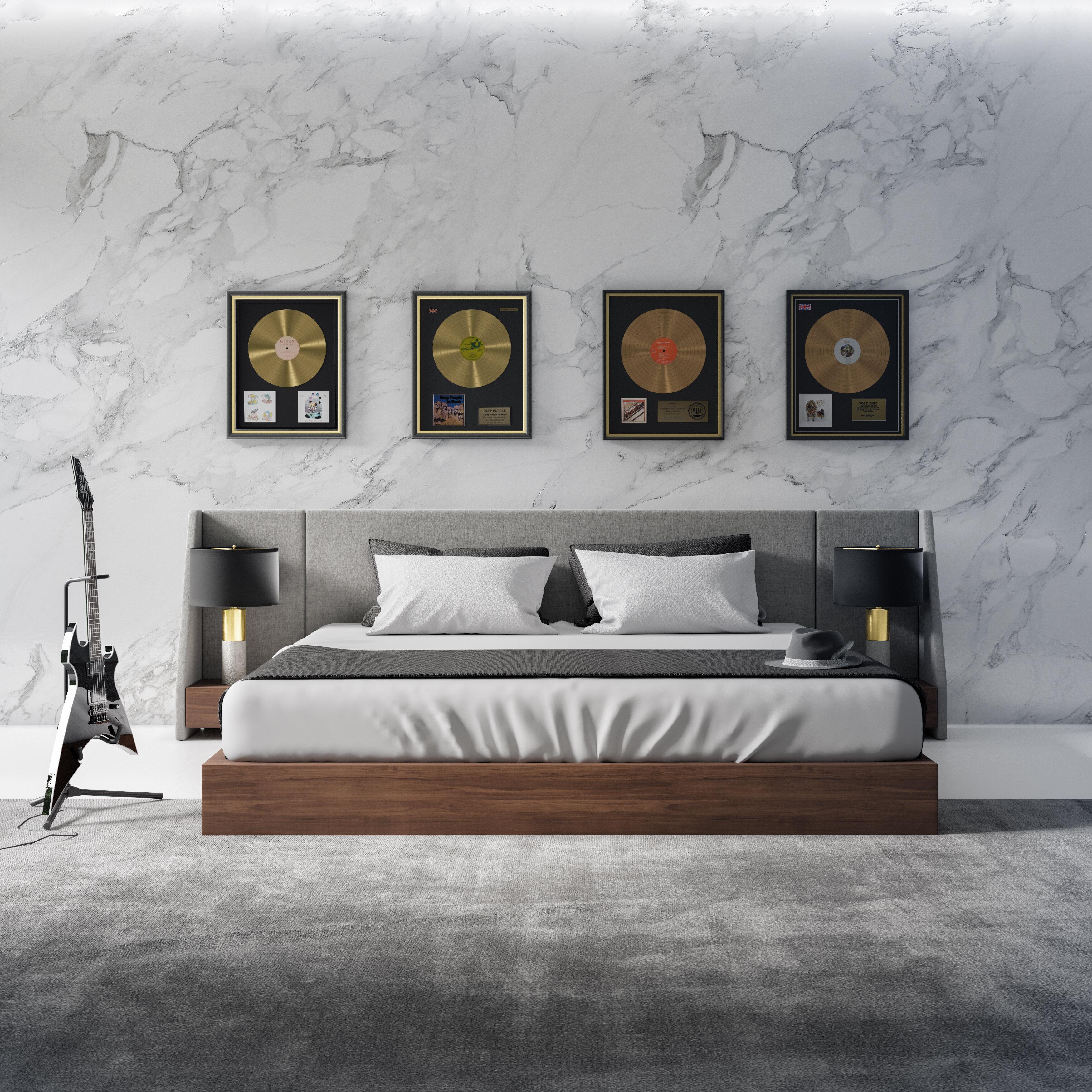 Amboise Upholstered Low Profile Platform Bed Set Reviews Allmodern