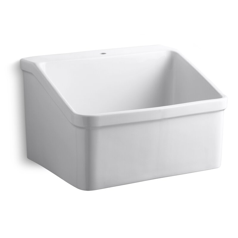 Hollister 28 X 22 Wall Mounted Laundry Sink
