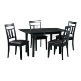 Fontinella 5 Piece Extendable Solid Wood Dining Set by Alcott Hill®