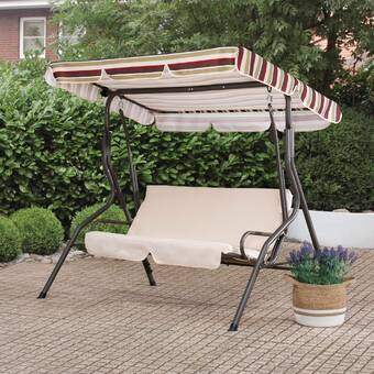Charlton Home Northbrook Porch Swingwith Stand Reviews Wayfair